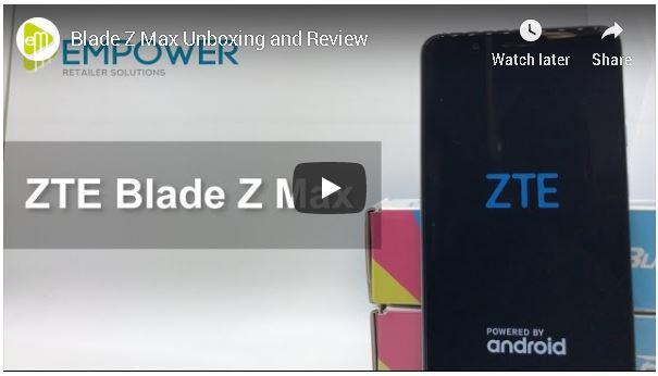 ZTE Blade Z Max video