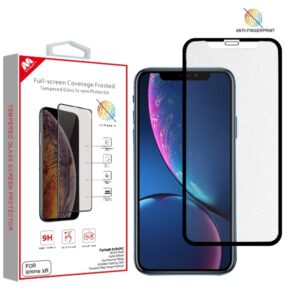 MyBat Full-screen Coverage Frosted Tempered Glass Screen Protector for APPLE iPhone XR - Black
