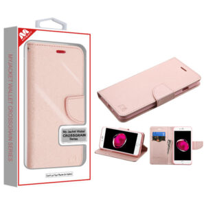 MyBat Liner MyJacket Wallet Crossgrain Series for APPLE iPhone 8 Plus-7 Plus - Rose Gold Pattern - Rose Gold
