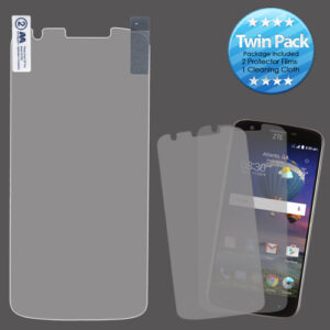 MyBat Screen Protector Twin Pack (Strong Adhesion & Ultra-thin) for ZTE Z959 (Grand X 3) - Clear