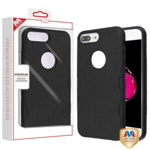 MyBat TUFF Subs Hybrid Case for APPLE iPhone 8 Plus-7 Plus - Rubberized Black - Black