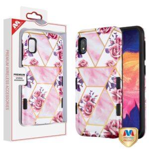 MyBat TUFF Subs Hybrid Case for SAMSUNG Galaxy A10E - Roses Marble - Black