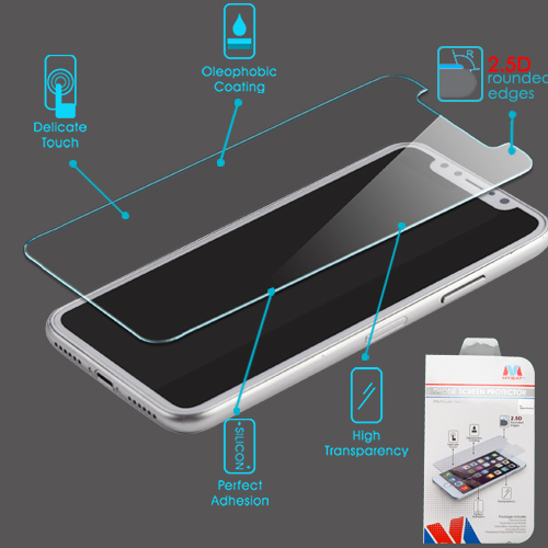MyBat Tempered Glass Screen Protector 2.5D for APPLE iPhone XS and X - Clear